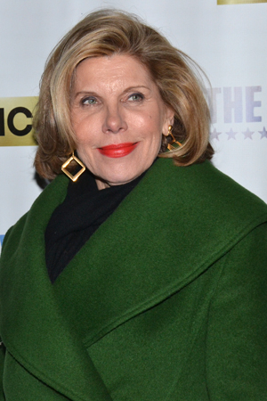 <p>Christine Baranski poses on the red carpet.</p><br />(© David Gordon)