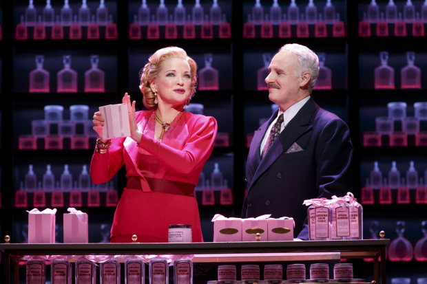 <p>Christine Ebersole shares a scene with John Dossett.</p><br />(© Joan Marcus)