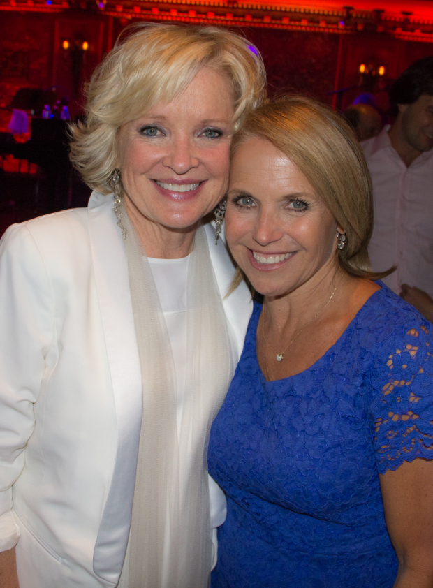 <p>Christine Ebersole with friend and TV personality Katie Couric. </p><br />(© Seth Walters)