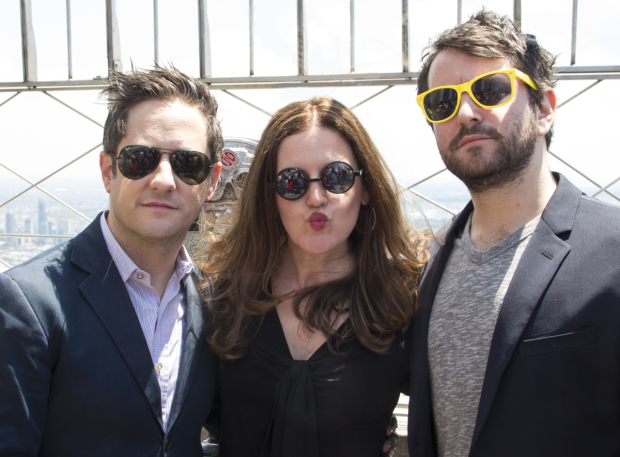 <p>Christopher Fitzgerald, Jennifer Simard, and Alex Brightman show off their shades on a sunny afternoon.</p><br />(© David Gordon)