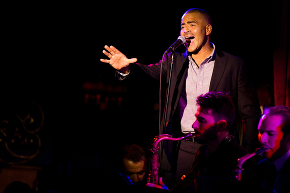 <p>Christopher Jackson is pleased to perform in <em>&quot&#x3B;The Wild Party&quot&#x3B; Swings</em>.</p><br />(© Matthew Murphy)