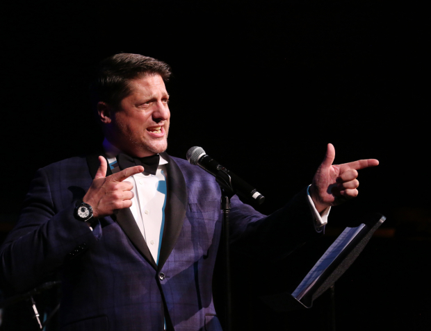 <p>Christopher Sieber takes the stage to sing a tune from the new musical <em>Dave</em>. </p><br />(© Walter McBride)