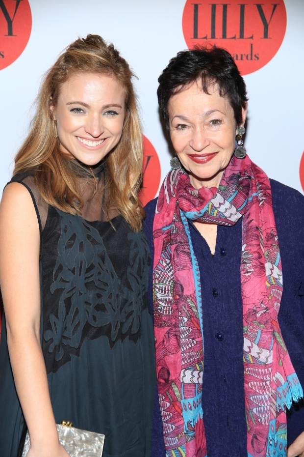 <p>Christy Altomare, who will star on Broadway next year in <em>Anastasia</em>, poses for a photo with one of the show&#39&#x3B;s cocreators, Tony winner Lynn Ahrens.</p><br />(© Tricia Baron)