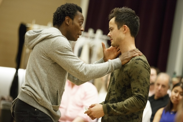 <p>Chukwudi Iwuji and Jeffrey Omura in a scene from the Public&#39&#x3B;s Mobile Unit production of Shakespeare&#39&#x3B;s <em>Hamlet</em>.</p><br />(© Joan Marcus)