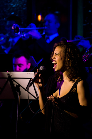 <p>Ciara Renee belts the music of Andrew Lippa in <em>&quot&#x3B;The Wild Party&quot&#x3B; Swings</em>.</p><br />(© Matthew Murphy)