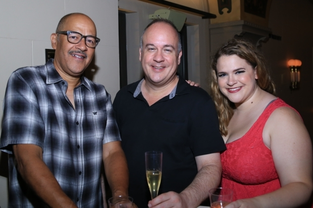 <p>Clark Johnson, Kevin Ligon, and Bonnie Milligan took the stage at New York City Center.</p><br />(© Tricia Baron)