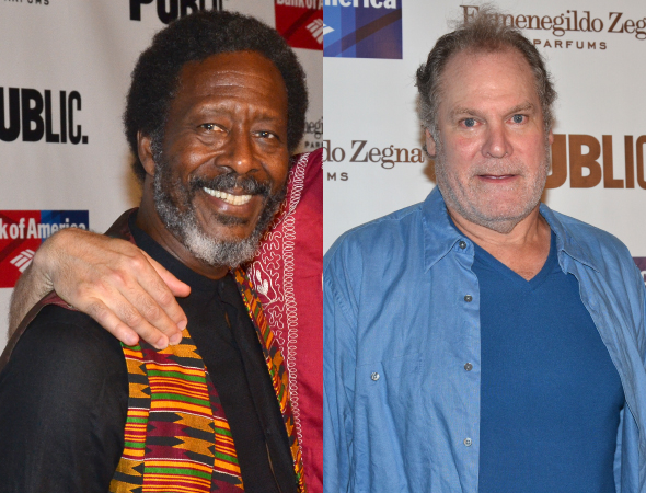 <p>Clarke Peters and Jay O. Sanders take on the roles of Gloucester and Kent, respectively.</p><br />(© David Gordon)