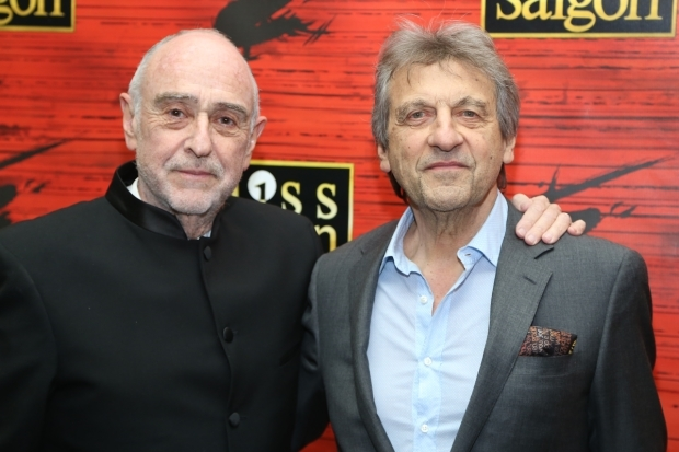 <p>Claude-Michel Schönberg and Alain Boublil collaborated on the book and lyrics for <em>Miss Saigon</em>, and Schönberg wrote the music.</p><br />(© Tricia Baron)