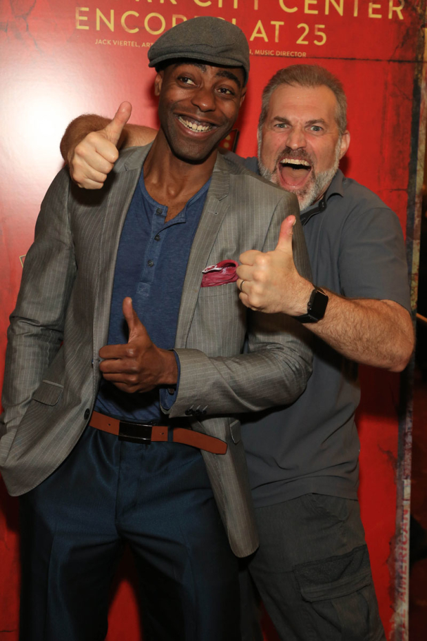 <p>Clifton Duncan and Marc Kudisch were enthusiastic about the evening.</p><br />(© Tricia Baron)