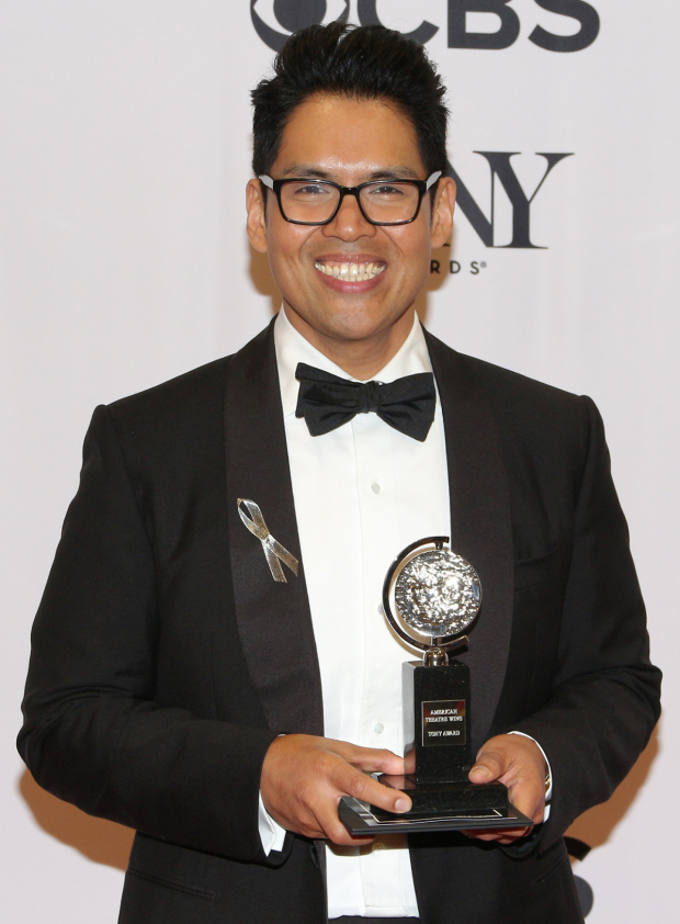 <p>Clint Ramos, Best Costume Design of a Play winner for <em>Eclipsed</em>.</p><br />(© David Gordon)