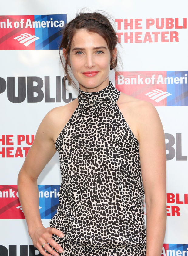 <p>Cobie Smulders (<em>How I Met Your Mother</em>) heads to the Public Theater for its annual gala.</p><br />(© David Gordon)