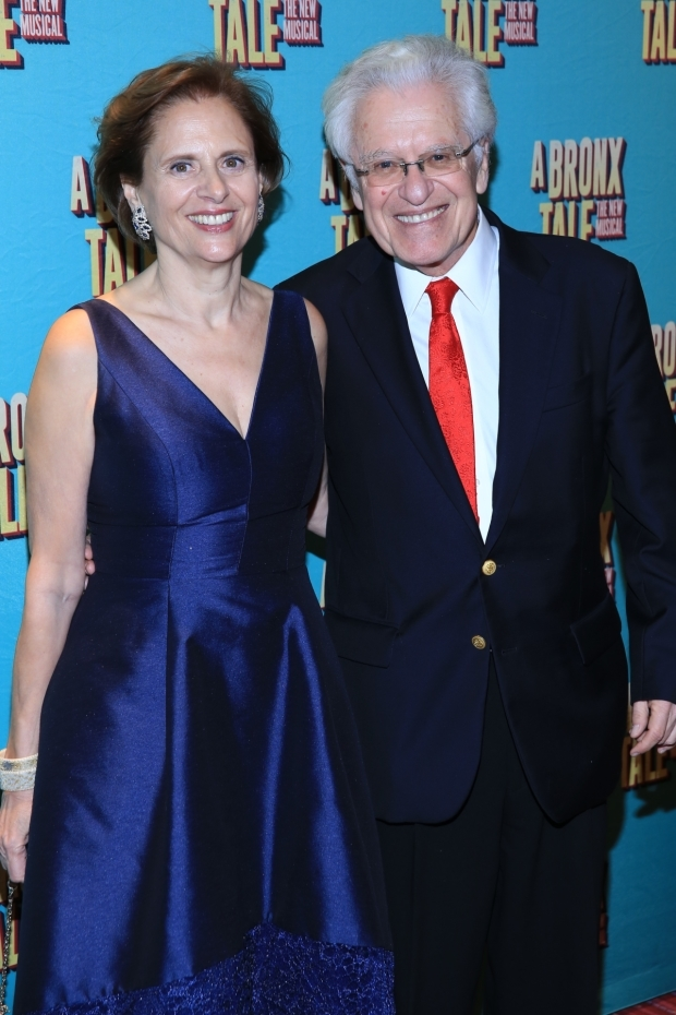 <p>Codirector Jerry Zaks celebrates opening night with his wife, Faye Fisher.</p><br />(© Tricia Baron)