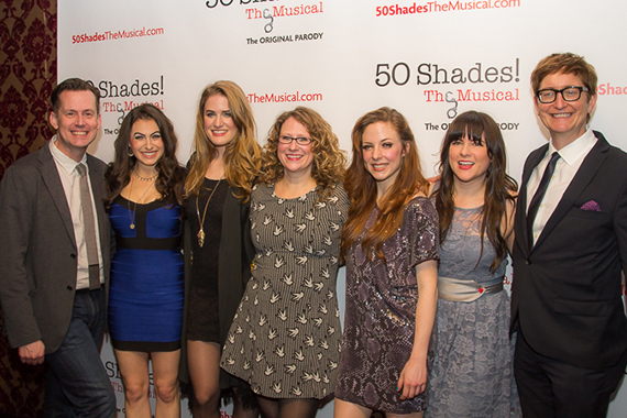 <p>Codirector Rob Lindley with cast members Casey Rogers, Chloe Williamson, Ashley Ward, Kaitlyn Frotton, producer and writer Emily Dorezas, and codirector Al Samuels.</p><br />(© Seth Walters)