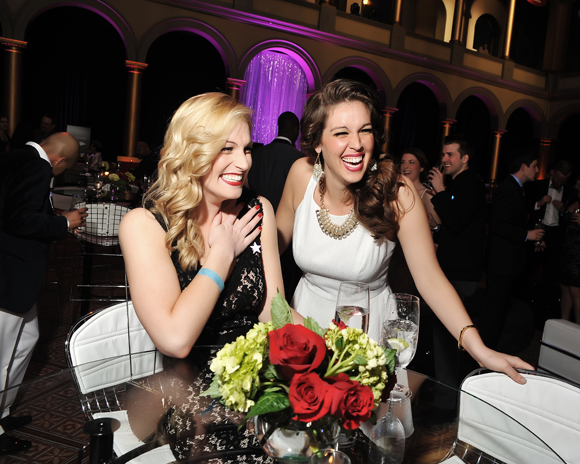 <p>Colleen Hayes and Angela Miller have a blast at the party.</p><br />(© Shannon Finney)