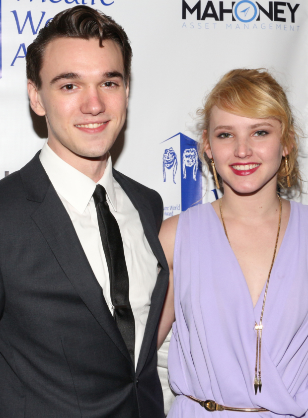 <p>Collin Kelly-Sordelet — recipient for <em>The Last Ship</em>, seen here with his girlfriend, Lily.</p><br />(© David Gordon)