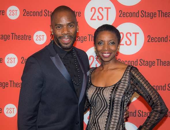 <p>Colman Domingo and Sharon Washington are ready for a fun evening.</p><br />(© Seth Walters)