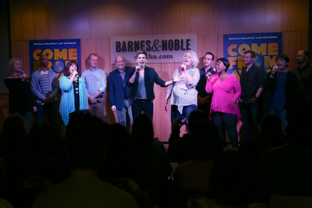 <p><em>Come From Away</em>, directed by Christopher Ashley, runs at Broadway&#39&#x3B;s Schoenfeld Theatre.</p><br />(© Tricia Baron)