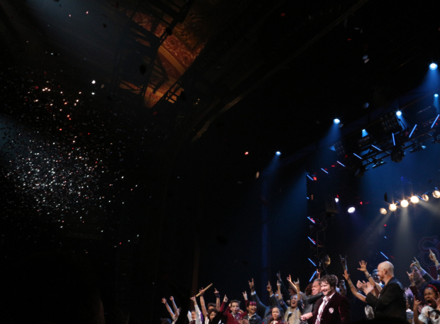 <p>Confetti rains down onstage as the curtain starts to close.</p><br />(© David Gordon)