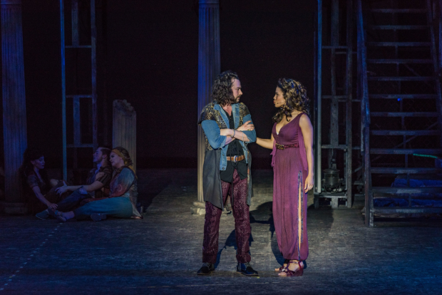 <p>Constantin Maroulis and Ciara Renée share a scene.</p><br />(photo provided by the production)