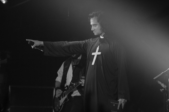 <p>Constantine Maroulis is a rockin&#39&#x3B; priest for The Deafening&#39&#x3B;s &quot&#x3B;Death Rattle N Roll.&quot&#x3B;</p><br />(© Seth Walters)