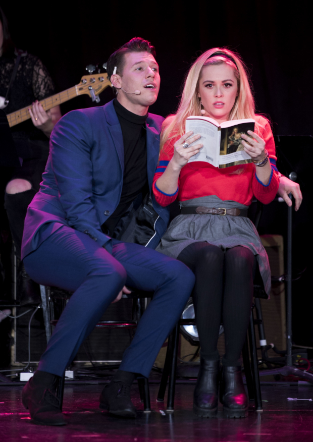 <p>Constantine Rousouli puts the moves on Natalie Hall.</p><br />(© Jenny Anderson)