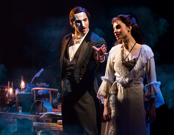 <p>Cooper Grodin and Julia Udine star as The Phantom and Christine</p><br />(© Matthew Murphy)