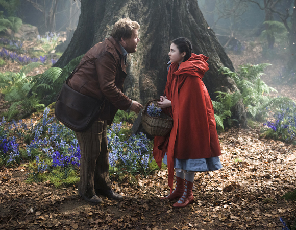 <p>Corden with <em>Annie</em> veteran Lilla Crawford as Red Riding Hood.</p><br />(© Disney Enterprises, Inc.)