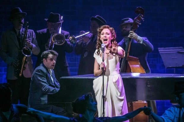 <p>Corey Cott and Laura Osnes lead the cast of <em>The Bandstand</em> as Donny and Julia.</p><br />(© Jerry Dalia)