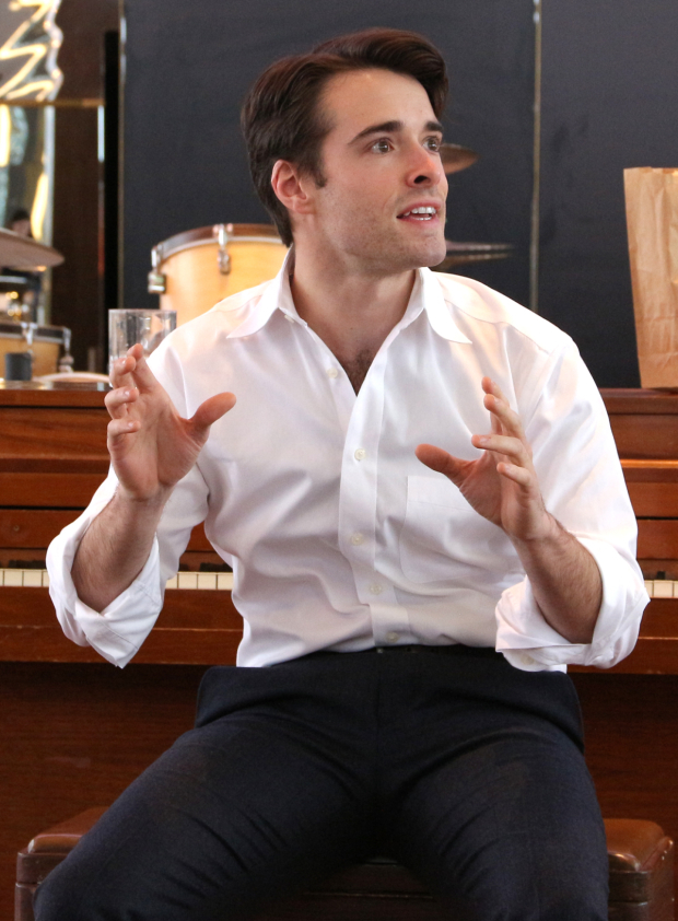 <p>Corey Cott is <em>Bandstand</em>&#39&#x3B;s leading man.</p><br />(© David Gordon)