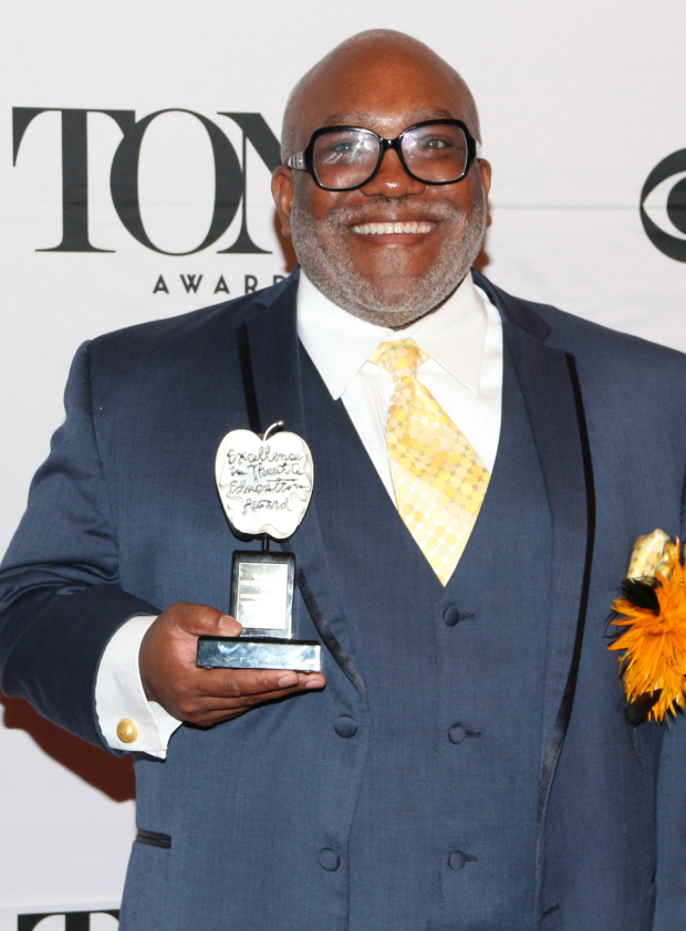 <p>Corey Mitchell — Recipient of the Excellence in Theater Education Award.</p><br />(© David Gordon)