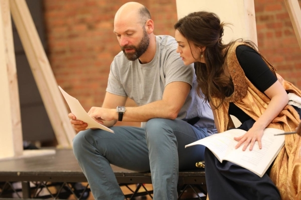 <p>Corey Stoll plays Iago and Heather Lind plays Desdemona.</p><br />(© Joan Marcus)
