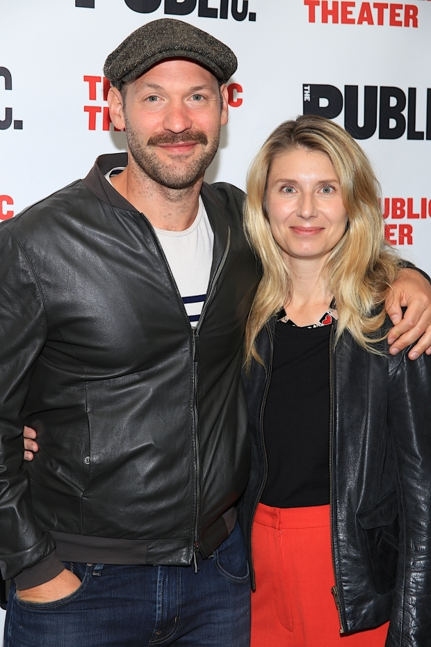 <p>Corey Stoll, who will be seen in the Public Theater&#39&#x3B;s upcoming production of <em>Plenty</em>, walks the red carpet with his wife, Nadia Bowers.</p><br />(© Tricia Baron)