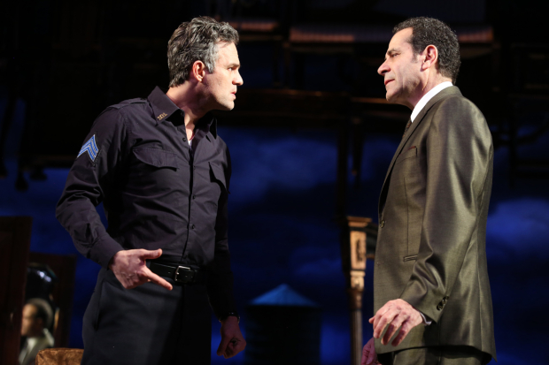 <p>Costars Mark Ruffalo and Tony Shalhoub.</p><br />(© Joan Marcus)