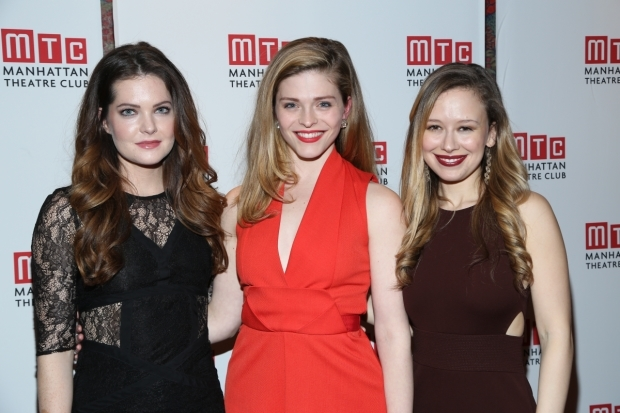 <p>Costars Meghann Fahy, Molly Griggs, and Molly Ranson take a photo together.</p><br />(© Tricia Baron)