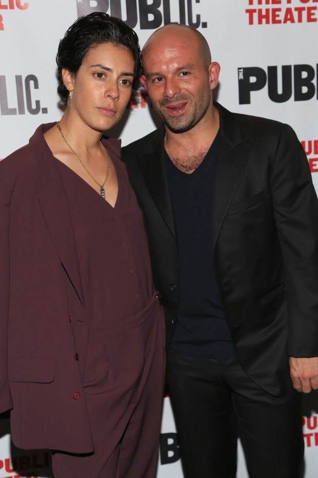 <p>Costars Roberta Colindrez and Anatol Yusef get close for a photo.</p><br />(© Tricia Baron)