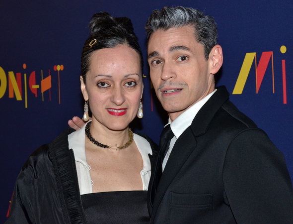 <p>Costume designer Isabel Toledo (with husband Ruben) is proud to share her work with the Broadway community.</p><br />(© David Gordon)