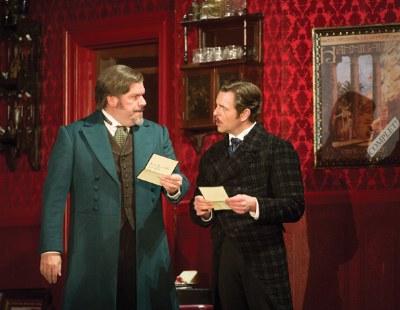 <p>Craig Bennett as Firmin and Edward Staudenmayer as André.</p><br />(© Alastair Muir)