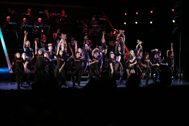 <p>Current cast members performed &quot&#x3B;All That Jazz&quot&#x3B; with iTheatrics kids.</p><br />(© Tricia Baron)