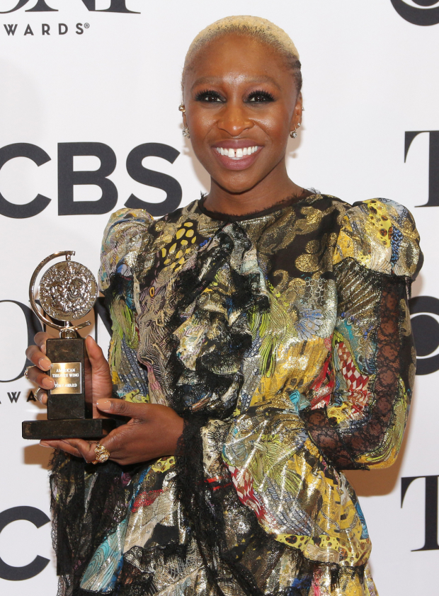 <p>Cynthia Erivo, Best Actress in a Musical winner for <em>The Color Purple</em>.</p><br />(© David Gordon)