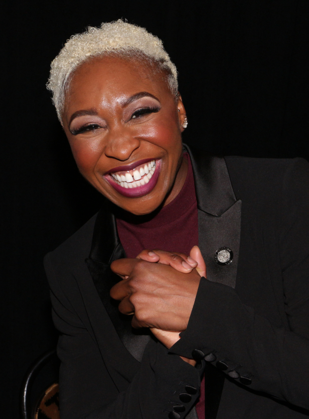 <p>Cynthia Erivo is a jubilant Best Leading Actress in a Musical nominee for <em>The Color Purple</em>.</p><br />(© David Gordon)
