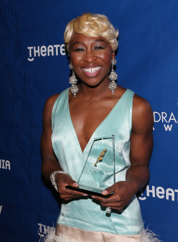 <p>Cynthia Erivo, Outstanding Actress in a Musical winner, <em>The Color Purple</em></p><br />(© David Gordon)