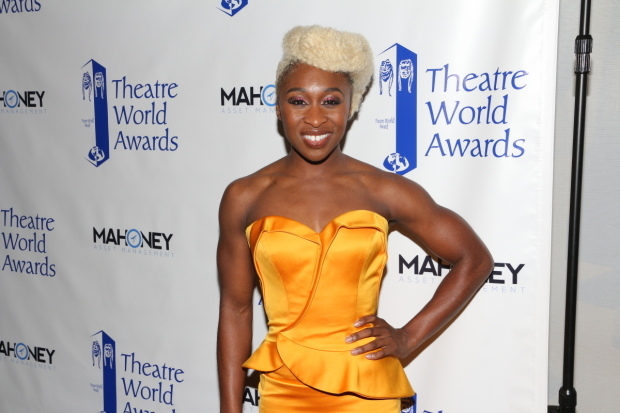 <p>Cynthia Erivo receives a 2016 Theatre World Award for <em>The Color Purple</em>.</p><br />(© David Gordon)