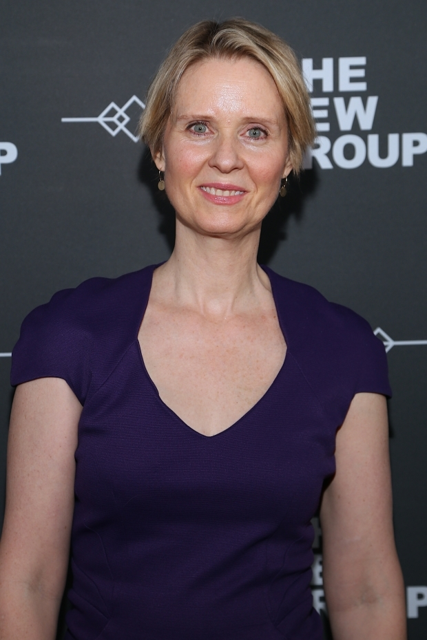 <p>Cynthia Nixon is on hand to celebrate the New Group.</p><br />(© Tricia Baron)