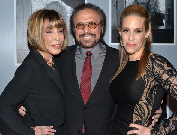 <p>Cynthia Weil and Barry Mann, two of the real-life inspirations for characters in <em>Beautiful</em>, celebrate opening night with their daughter, Jenn Berman.</p><br />(© David Gordon)