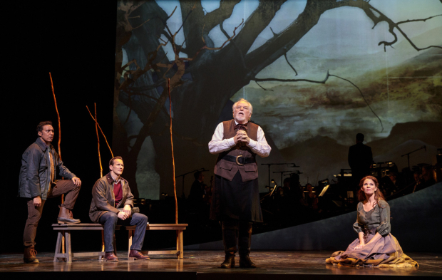 <p>Dakin Matthews (center) with Aasif Mandvi, Patrick Wilson, and Kelli O&#39&#x3B;Hara.</p><br />(© Joan Marcus)
