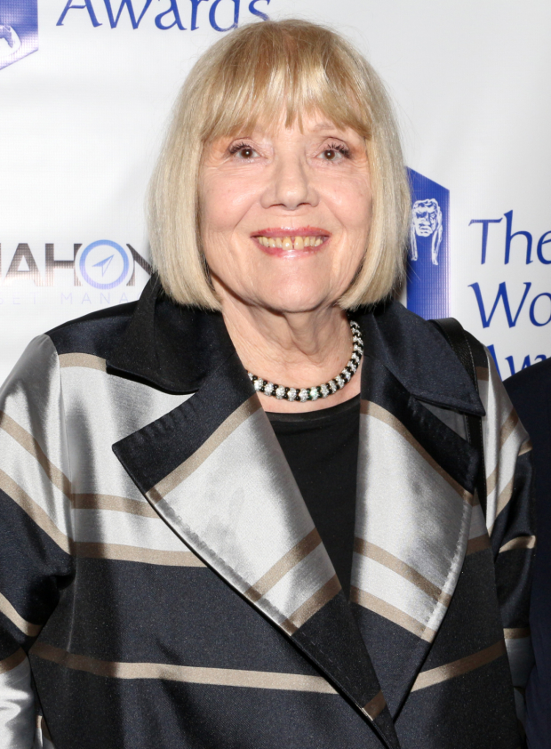 <p>Dame Diana Rigg (<em>Game of Thrones</em>) presented the Dorothy Loudon Award to Leanne Cope.</p><br />(© David Gordon)