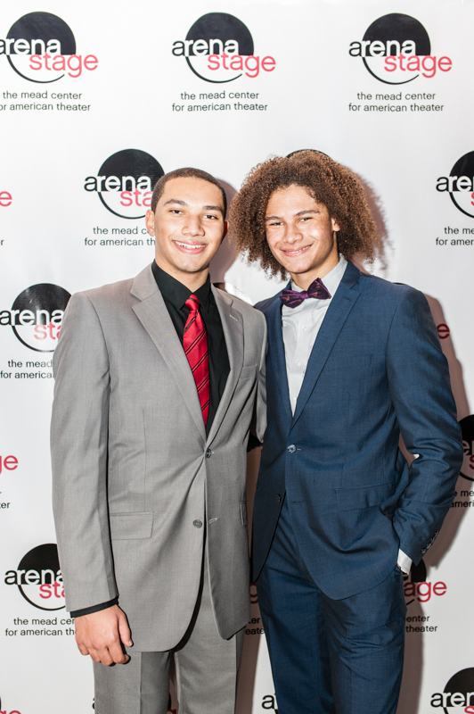 <p>Dancers John and Leo Manzari celebrate opening night at Arena Stage.</p><br />(© Cameron Whitman Photography)