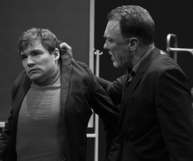 <p>Daniel Durant and Patrick Page have a tense moment as pupil and teacher before &quot&#x3B;The Bitch of Living.&quot&#x3B;</p><br />(© David Gordon)