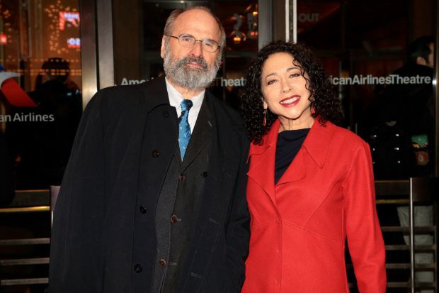 <p>Daniel J. Sullivan and Mimi Lieber enjoyed date night at the American Airlines Theatre.</p><br />(© Tricia Baron)