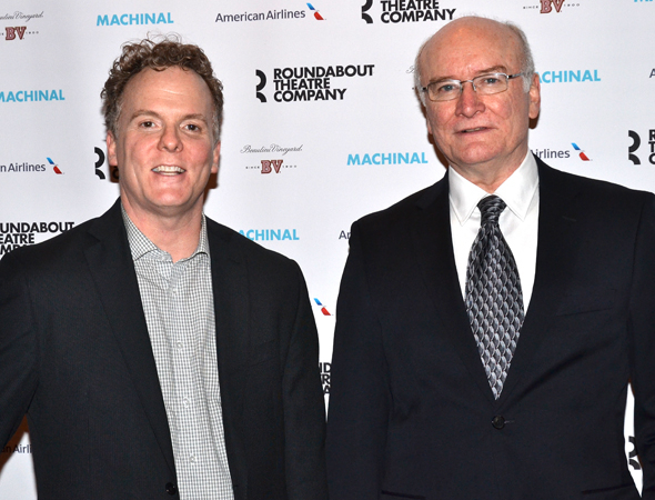 <p>Daniel Pearce and Edward James Hyland are two of the Broadway vets who take on multiple roles in <em>Machinal</em>.</p><br />(© David Gordon)